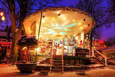 Christmas arts and crafts stall in Tivoli, Copenhagen, Denmark, Europa
