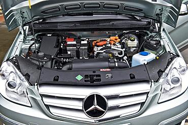 Hydrogen fuel cell vehicle, Mercedes B-class zero-emission, electric motor, Berlin, Germany, Europe