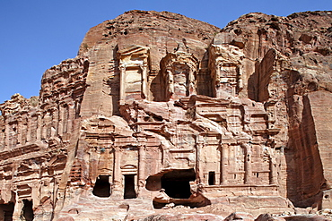 Corinthian Tomb, Petra, the capital city of the Nabataeans, rock city, UNESCO World Hertage Site, Wadi Musa, Hashemite Kingdom of Jordan, Orient, Middle East, Asia