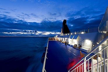 Norrona ferry, which connects Esbjerg in Denmark, Torshavn on the Faroe Islands and Seydisfjoerdur, Seyisfjoerur in Iceland