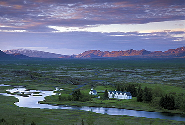 Historic plain of Thingvellir, fiingvellir, South Iceland, Iceland, Europe