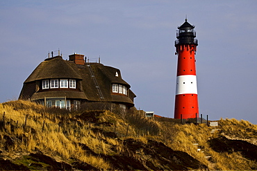 Lighthouse at Westerland on Sylt, North Sea, North Friesland, Schleswig-Holstein, Germany, Europe