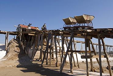 Saltworks in Salinas near Bani on the southern coast, 70 km west of Santo Domingo, Dominican Republic