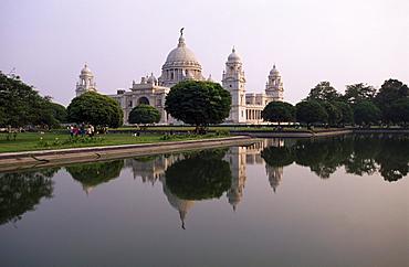 Victoria Memorial in Calcutta, Kolkata, India, Asia