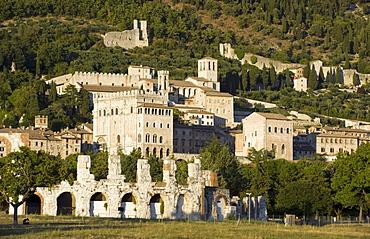 Roman theatre in Gubbio, Umbria, Italy, Europe