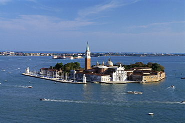 San Giorgio Maggiore, designed by Andrea Palladio in 1565, Unesco World Heritage Site, Venice, Veneto, Italy, Europe