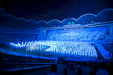 Dancers and acrobats at the Arirang Festival, the North Korean Grand Mass Gymnastics and Artistic Performance, Pyongyang, North Korea, Asia