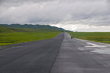 Empty highway, North Korea, Asia