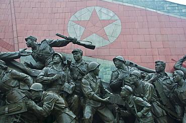 Kim Il Sung Monument on Mansu Hill, Pyongyang, North Korea, Asia