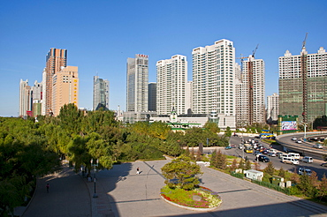 The skyline of Harbin, Heilongjiang, China, Asia