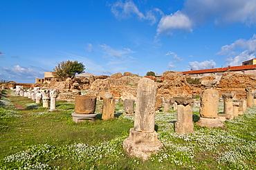 Ancient Roman bath in Cherchell, Algeria, Africa