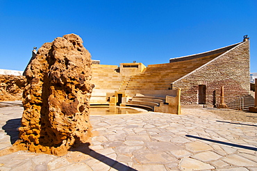 Amphitheater at the beach resort Corne d'Or, former stronghold, Tipasa, Algeria, Africa