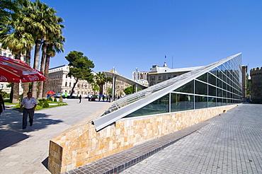 Roof of the metro station in Baku, Azerbaijan, Caucasus, Middle East