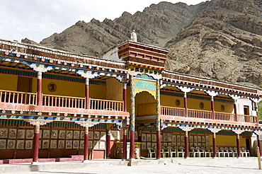 Tibetan Buddhist monastery, Hemis monastery, gallery buildings, Drukpa sect, the Himalayas, Ladakh, Jammu and Kashmir, India, South Asia, Asia
