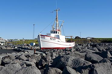 Fishing boat, port of Keflavik, Iceland, Scandinavia, Northern Europe, Europe
