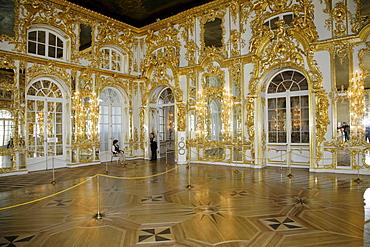 Mirror Room, Catherine Palace, Tsarskoye Selo, UNESCO World Heritage Site, St. Petersburg, Russia