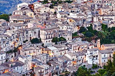 View over Ragusa Ibla, Sicily, Italy, Europe