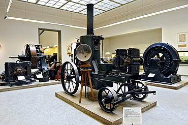 Lighting car by Siemens and Halske in 1878, Deutsches Museum German museum, Munich, Bavaria, Germany, Europe