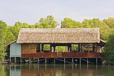 Traditional restaurant along the Doung Dong River, Phu Quoc Island, Vietnam, Southeast Asia