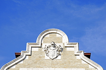 Coat of arms, Palacio Real de la Magdalena, Royal Palace, university buildings, Universidad Internacional Menendez Pelayo, Santander, Cantabria, Spain, Europe