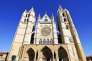 Santa Maria de Regla cathedral, Plaza Regla, Leon, province of Castilla y Leon, Castile and Leon, Spain, Europe