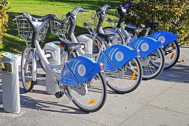 Rental bikes, bicycles, Santander, Cantabria, Spain, Europe