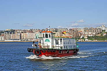 Ferry, bay, Santander, Cantabria, Spain, Europe