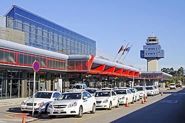 Taxis, airport, Santander, Cantabria, Spain, Europe