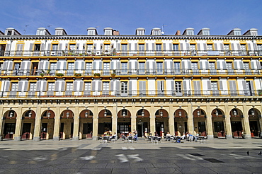 Plaza de la Constitucion, San Sebastian, Pais Vasco, Basque Country, Spain, Europe