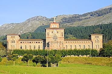 Ermita de Olatz, church, monastery, Azpeitia, Gipuzkoa province, Pais Vasco, Basque Country, Spain, Europe