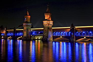 Oberbaumbruecke bridge at the Festival of Lights 2010, Berlin, Germany, Europe