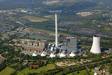 Aerial view, STEAG power plant, Herne, Ruhr area, North Rhine-Westphalia, Germany, Europe