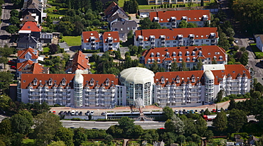 Aerial view, Curanum Westfalen GmbH, Am Ochsenkamp retirement home, Schwelm, North Rhine-Westphalia, Germany, Europe