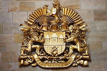 Coat of Arms, Prague Castle, Castle District, Hradschin, Prague, Czech Republic, Europe