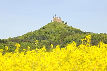Burg Hohenzollern Castle, Hechingen, Baden-Wuerttemberg, Germany, Europe