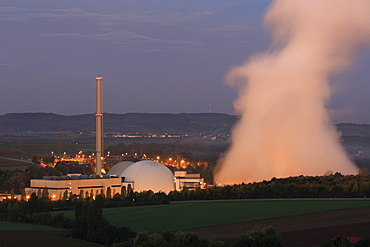 AKW Neckarwestheim, Neckarwestheim Nuclear Power Plant, Baden-Wuerttemberg, Germany, Europe