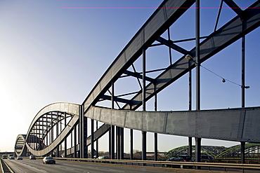Neue Elbbruecke Elbe bridge, Hamburg, Germany, Europe