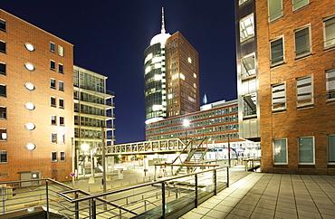 Hanseatic Trade Center and Sandtorkai quay, Hafencity of Hamburg, Germany, Europe