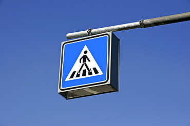 Pedestrian crossing sign, Germany, Europe