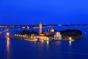Island and San Giorgio Maggiore Church, Venice, Veneto, Italy, Europe