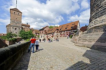 Kaiserburg Imperial Castle, Nuremberg, Middle Franconia, Bavaria, Germany, Europe