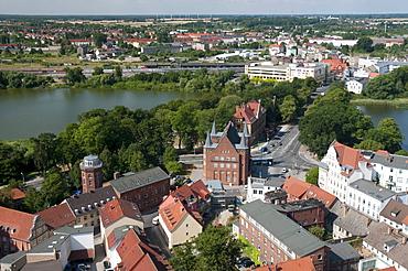 View from Marienkirche church, Unesco World Heritage Site, Stralsund, Mecklenburg-Western Pomerania, Germany, Europe