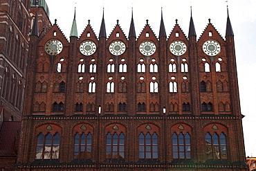 Town hall, Alter Markt marketplace, Stralsund, Unesco World Heritage Site, Mecklenburg-Western Pomerania, Germany, Europe
