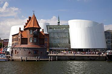 Port Authority builing, Ozeaneum, German Oceanographic Museum, port, Stralsund, UNESCO World Heritage Site, Mecklenburg-Western Pomerania, Germany, Europe