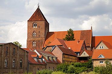 Parish church St. Marien, St. Mary, Plau am See, Mecklenburg Lake District, Mecklenburg-Western Pomerania, Germany, Europe