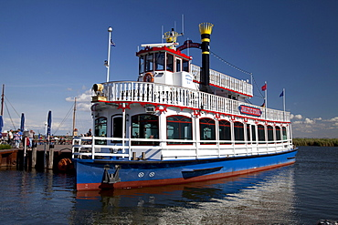 Paddle steamer Balticstar, Bodden tour, Baltic Sea spa of Zingst, Fischland Darss Zingst peninsula, Mecklenburg-Western Pomerania, Germany, Europe