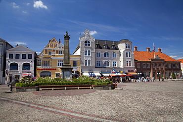 Market square, Eutin, Naturpark Holsteinische Schweiz, nature park, Schleswig-Holstein, Germany, Europe