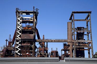 Blast furnace, former steel mill, location for technology and service, Phoenix West, Hoerde, Dortmund, Ruhr area, North Rhine-Westphalia, Germany, Europe