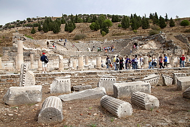 Odeon Theatre, ancient ruined city of Ephesus, Selcuk, Lycia, Turkey, Asia