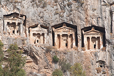 Rock cut tombs of Dalyan, Lycia, Turkey, Asia